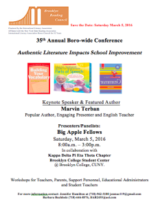 Save the Date Flyer Boro-wide Conf. 2015